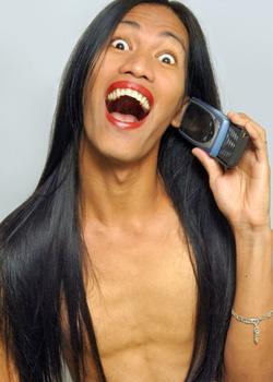 Shemale am Telefon